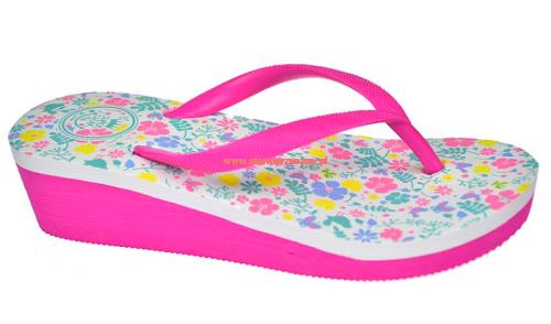 c9e679ff4649d Japonki dziecięce na koturnie klapki koturn B1172 różowe ...